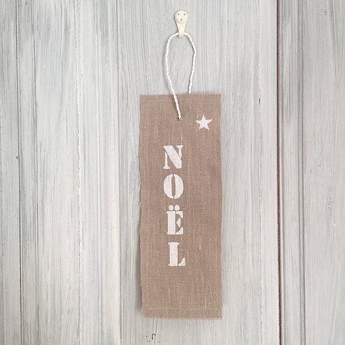"""Fanion en lin """"Noël"""""""