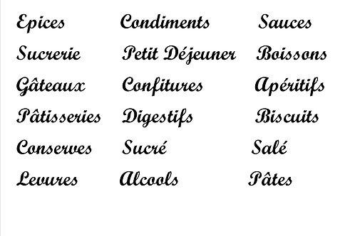 Etiquettes rangement Cuisine