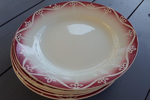 """Assiettes """"En rouge et blanc"""""""