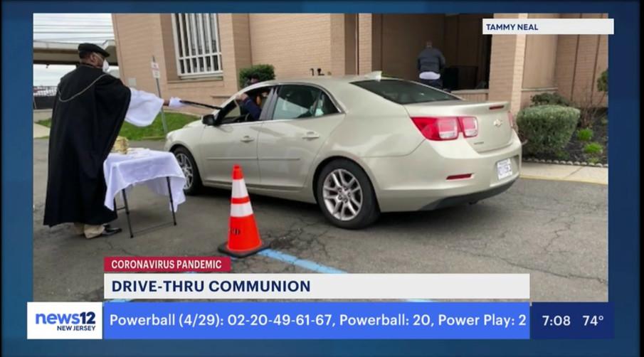 Drive-Thru communion at NZBC