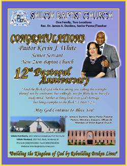 Pastor Kevin J. White- 12 Years