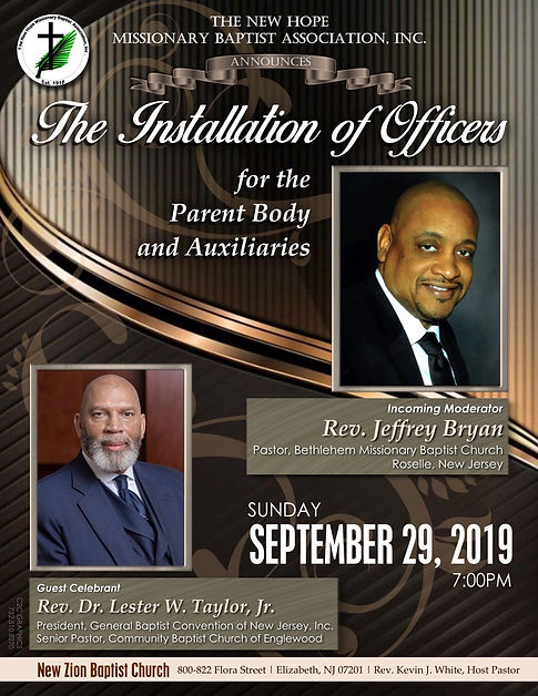 2019 The New Hope Missionary Baptist Assoc. Installation Service
