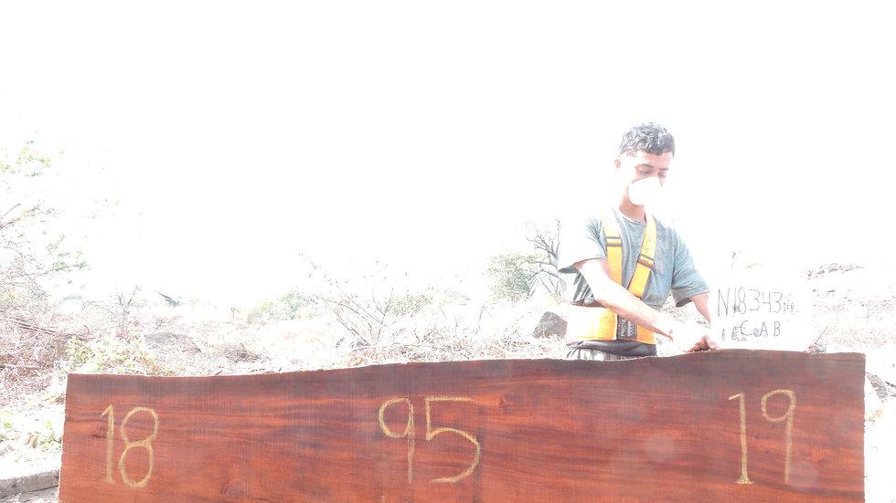 N18343 Andiroba/Caobilla Wood Mantel