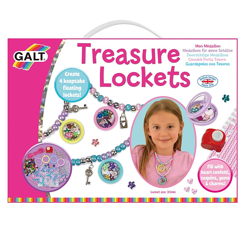 Treasure lockets kids set galt