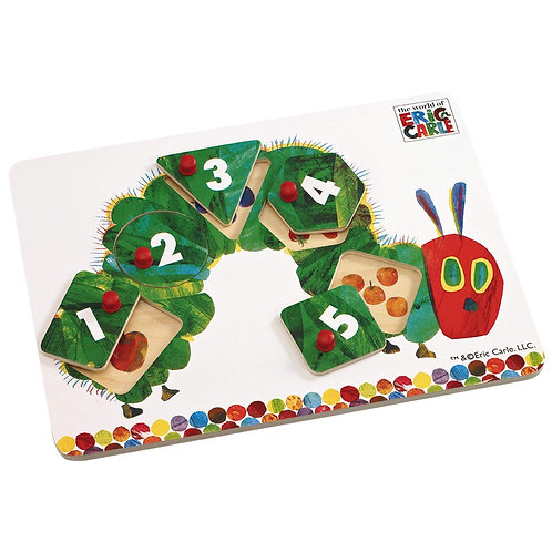 Book Characters and Toys - The Very Hungry Caterpillar Wooden Peg Puzzle