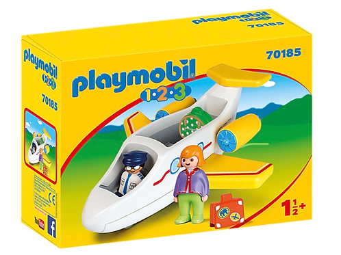 Plane with passenger toy figure for toddlers playmobil