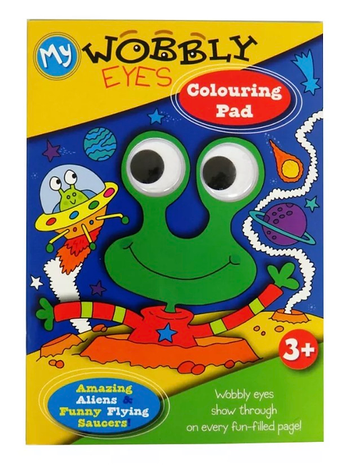 Wobbling eyes frog colouring book