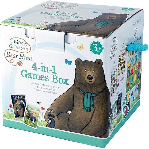 Book Characters and Toys - We're Going on a Bear Hunt 4 in 1 Games Box