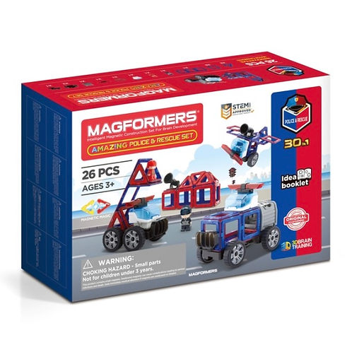Magformers magnetic police rescue set