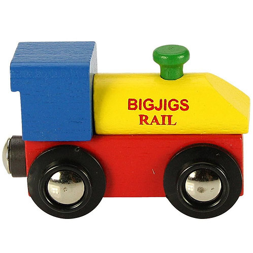 Bigjigs wooden little name engine train toy