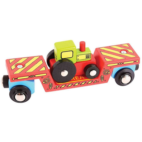 Bigjigs tractor low loader toy