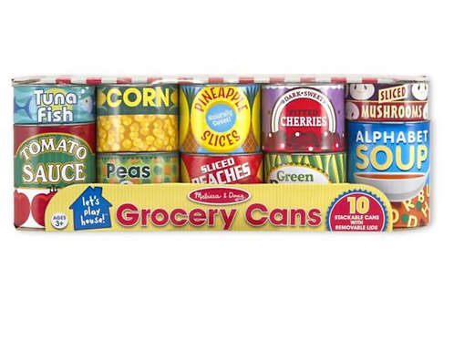 Pretend play canned food play set