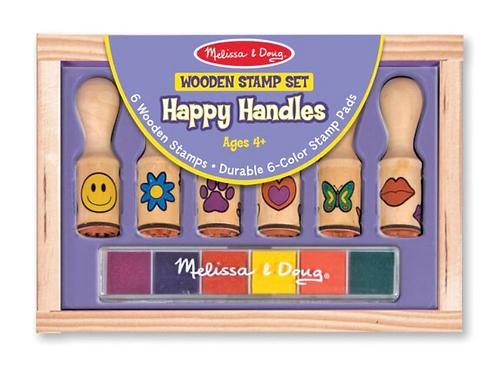 Wooden handled stamp set for kids melissa