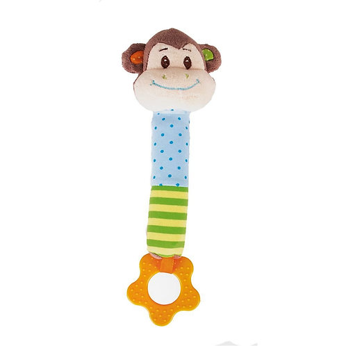Bigjigs baby soft squeaker monkey