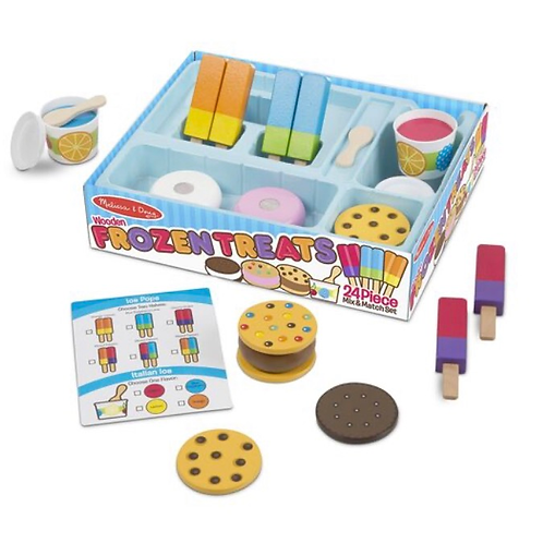Pretend play frozen food treats set