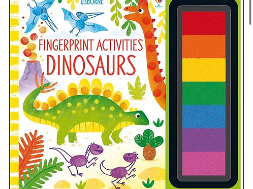 Dinosaurs fingerprint activity book usborne for kids