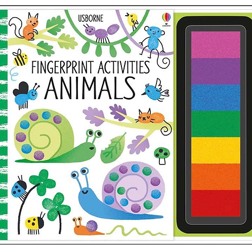 Animals fingerprint activity book usborne for kids