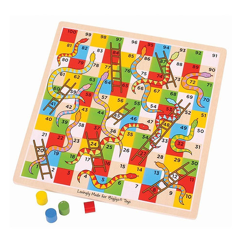 Bigjigs traditional board game snakes and ladder