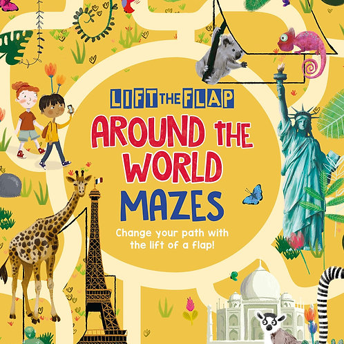 Lift the flap around the world mazes book