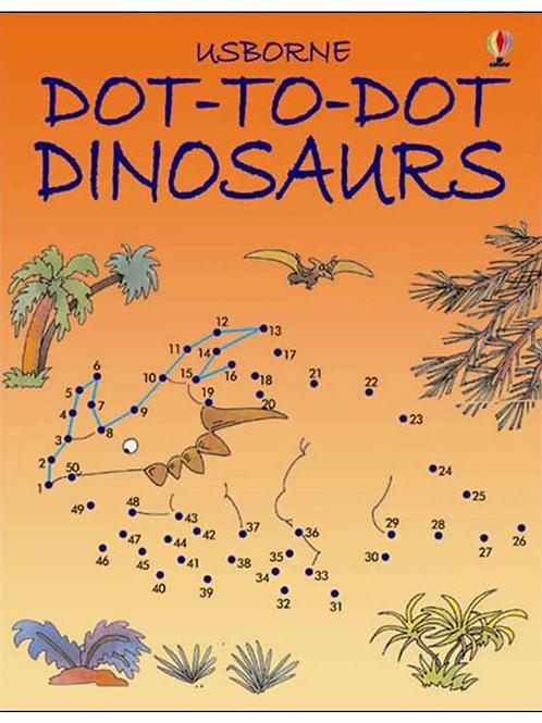 Dinosaurs dot to dot book usborne