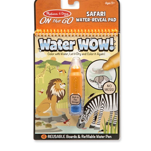 Safari water colouring book for kids melissa