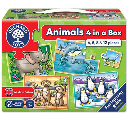 Orchard Jigsaw - Animals 4 in a box