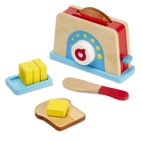 Melissa wooden toy toaster butter bread role-play
