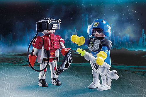 Space police officer and thief