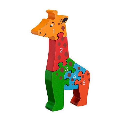 Lanka kade wooden jigsaw giraffe numbers