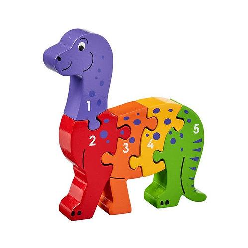 Lanka kade wooden jigsaw dinosaur numbers