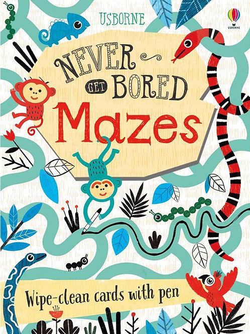 Never bored maze book usborne