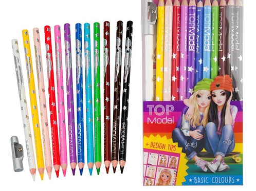 12 colouring pencils top model for girls