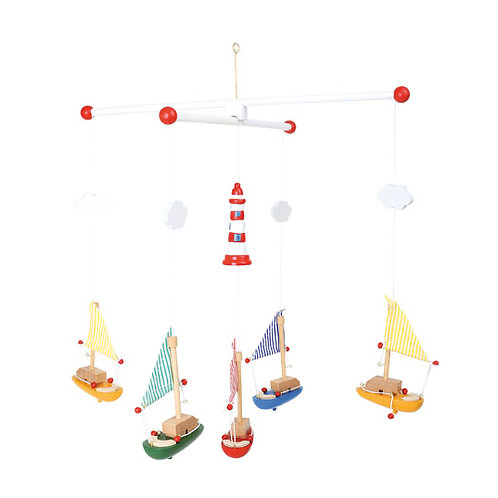 Small foot Baby - Sail boat and lighthouse mobile