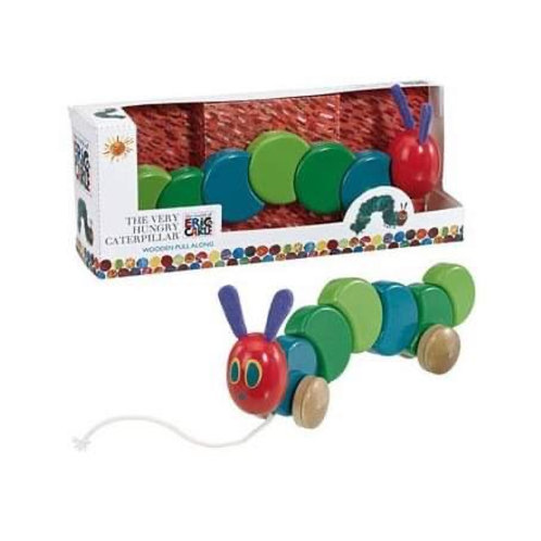 Book Characters and Toys - The Very Hungry Caterpillar Wooden Pullalong