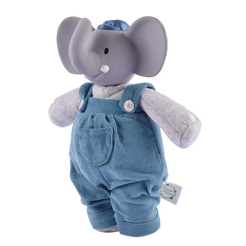 Tikiri natural rubber toy elephant alvin overall