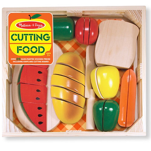 Pretend play wooden cutting food
