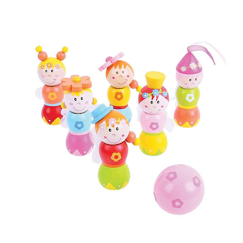 Bigjigs toy wooden skittles