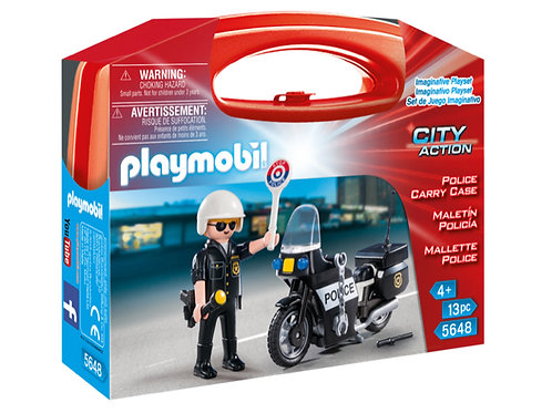 Playmobil police carry case toy