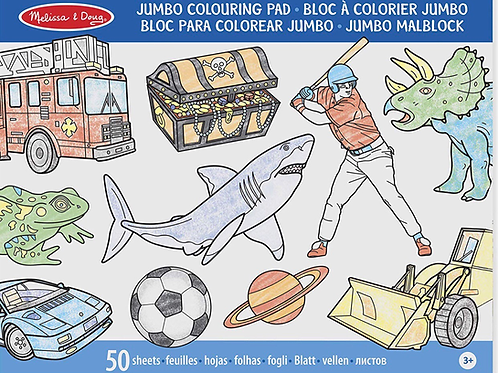 Jumbo colouring pad blue melissa for boys