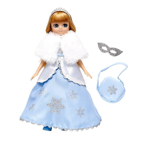 Lottie doll white dress snow queen