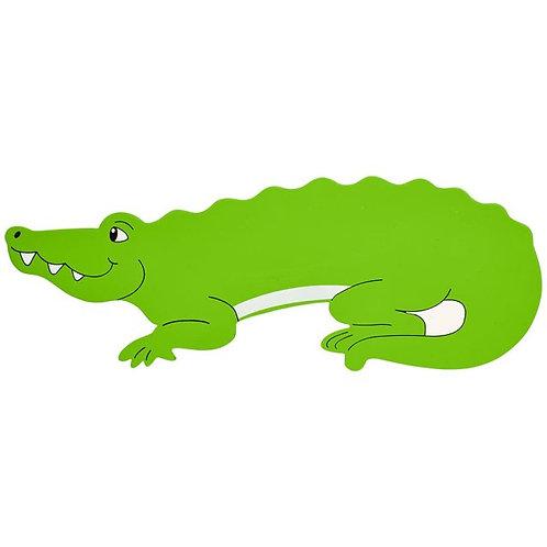 Lanka kade green crocodile wooden name plaque