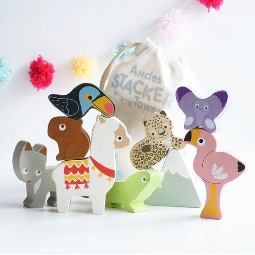 Le toy van - Andes stacking animals with bag