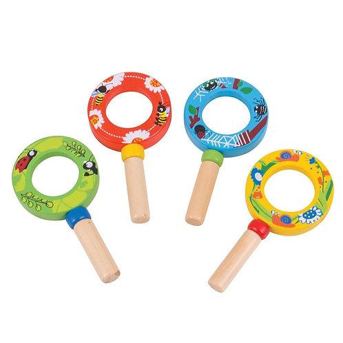Bigjigs children wooden magnifier