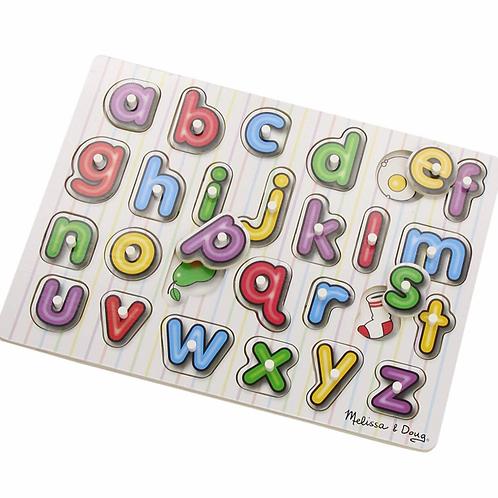 Melissa - Peg puzzle Alphabet