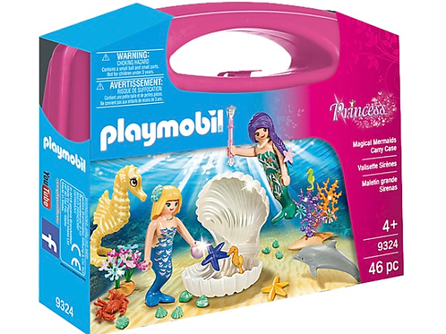 Mermaid figure carry case playmobil