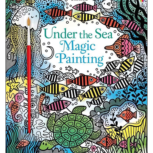 Under the sea water painting book usborne for kids