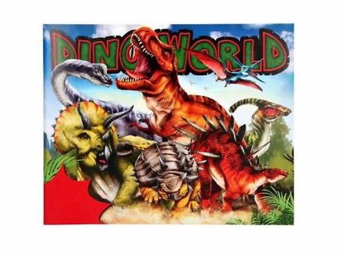 Dinosaur sticker book dino world