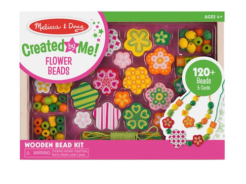 Wooden flower beads kids set melissa