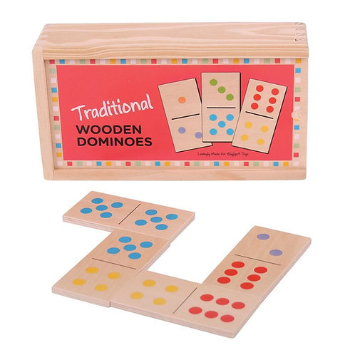 Bigjigs game traditional wooden dominoes