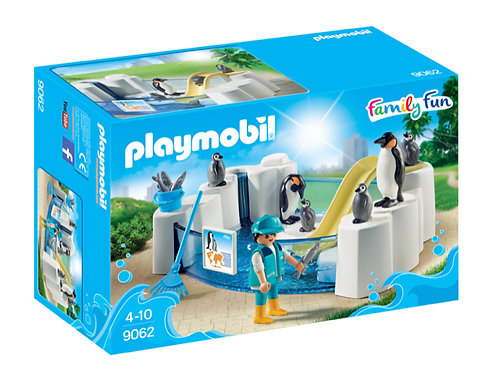 Playmobil penguin toy tank